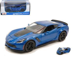 Maisto 31133-1//24 Scale Diecast Model Car 2015 Chevrolet Corvette Z06 Blue