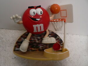 Collectable-M-And-M-Candy-Dispenser-Rare-Red-Slam-Dunking-Into-The-Basket