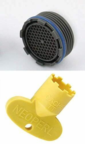 mousseur et filtre. Kit aérateur pour robinet escamotable avec clé 16x 1m