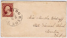 #26A-3 Cents 1857, 15L10e or 10i, Rose Claret, Bridgeton NJ to State Normal Sch.