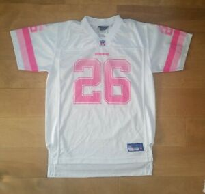 Details about Pink And White Redskins Jersey Womens Size Large Reebok NFL Portis 26 Size XL