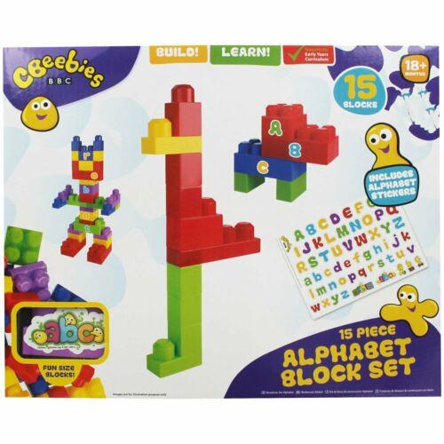 Blocco CBeebies Alfabeto Set 15pc blocchi di apprendimento educativo gioco