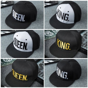 Fashion-Adjustable-Letter-King-Queen-Hat-Baseball-Cap-Hip-Hop-Lovers-Snapback-AU