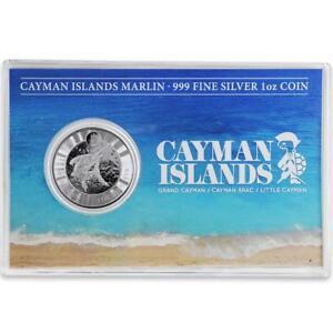 2017-1-oz-Cayman-Islands-Marlin-999-Silver-Coin-Prooflike-w-Postcard-COA-A426