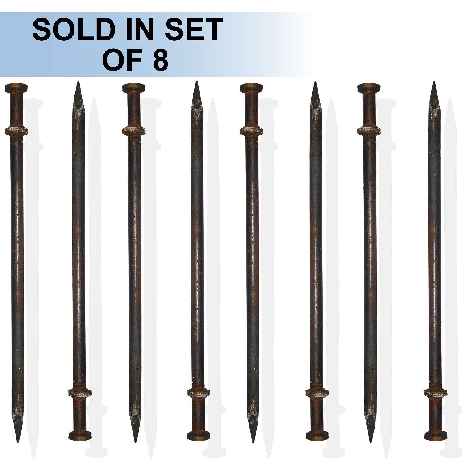 42  x 1  Double Head Tent Stake (Set of 8)  official quality