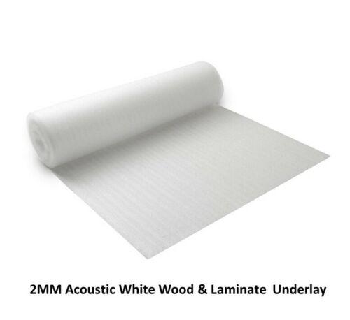 Laminate Flooring Top Quality 2mm Acoustic Comfort White Foam Underlay Wood