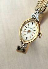 Benrus Vintage 14K Yellow Gold Diamond 17 Jewel Ladies Dress Wrist Watch