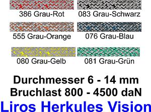 Liros-Hercules-Vision-cuerdas-echad-caso-camilla-movil-nuevo-6-8-10-12-14-mm-div-colores