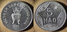 Vietnam  : North Vietnam 1946(v) 5 Hao  Gem BU   IR4395