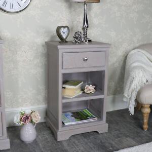 Marron-pintado-Mesita-Armario-muebles-de-dormitorio-almacenaje-Vintage-Rustico