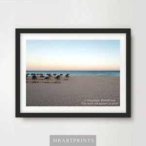 HOLIDAY-BEACH-SEA-OCEAN-Art-Print-Poster-Tropical-Horizon-A4-A3-A2-Pictures-Wall
