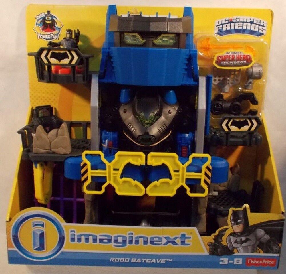 DC Superfriends Imaginext Batuomo Robo Batcave Firing Missiles  Elevator To Batbot  produttori fornitura diretta