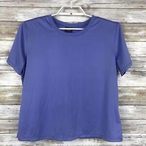 Patagonia-Womens-Top-Sz-L-Short-Sleeve-Solid-Purple-Baselayer-T-Shirt