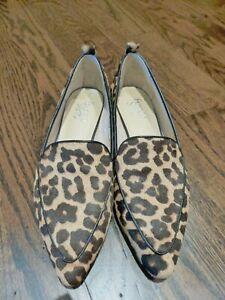 Leopard Print Pointy Toe Flats 8.5 | eBay