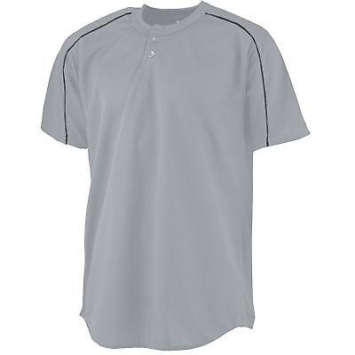 426 Augusta Sportswear Men/'s Short Sleeve Two Button Polyester Baseball T-Shirt
