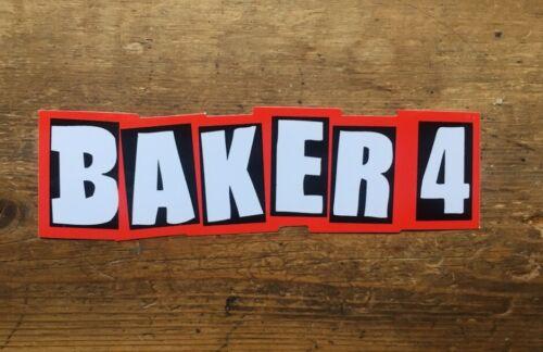 "BAKER SKATEBOARDS BAKER 4 CLASSIC OG RED STICKER 5/""INCH REYNOLDS KADER"