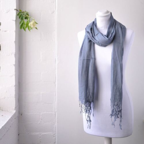 Women Soft Plain Shawl Scarf Light Weight Rayon Fabric Stole Wrap