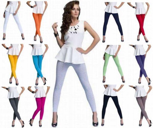 DeDavide Lange Damen Fitness Leggings Baumwolle Sporthose Unterhose Unterwäsche