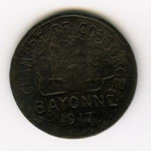 France 1917 5 cent bayonne chambre commerce jeton - Chambre du commerce bayonne ...