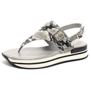 B1232 infradito donna HOGAN sandalo ciabatta scarpa ghiaccio nero shoes women
