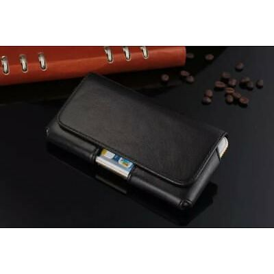 For iPhone X 6S 7 8 Plus, Luxury Horizontal Holster Belt Clip Pouch Leather Case