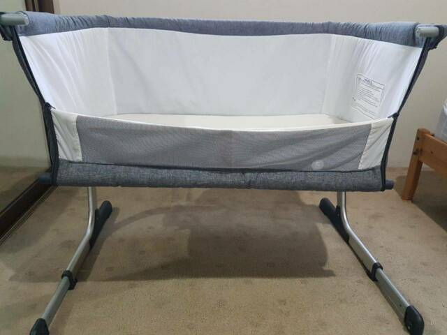 Childcare Cosy Time Sleeper Bedside Bassinet (Grey)