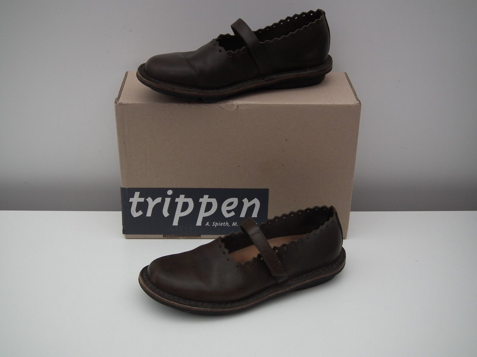 TRIPPEN  Comfortable dark brown brown brown leather shoes  Size 37   7 921bf0