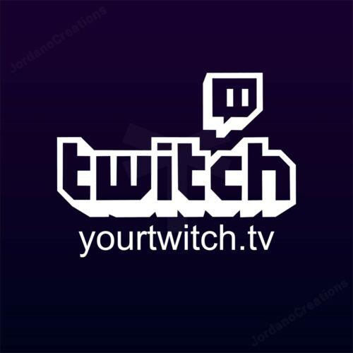 Custom twitch.tv TWITCH live stream decal vinyl sticker custom URL any color