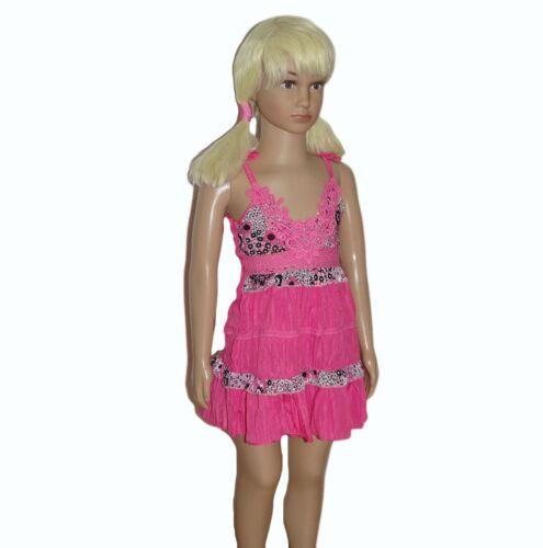Kleid Stufenkleid Trägerkleid Tunika Sommerkleid Strandkleid  Dress Spitze
