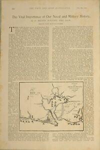 1897-PRINT-BRITISH-EMPIRE-NAVAL-amp-MILITARY-HISTORY-SIEGE-OF-HAVANA-QUEBEC