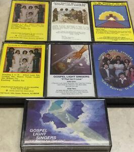 7 Vintage Gospel  Light Singers Religious Cassette Tapes
