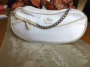 Christian Dior White Purse make up bag new No Box