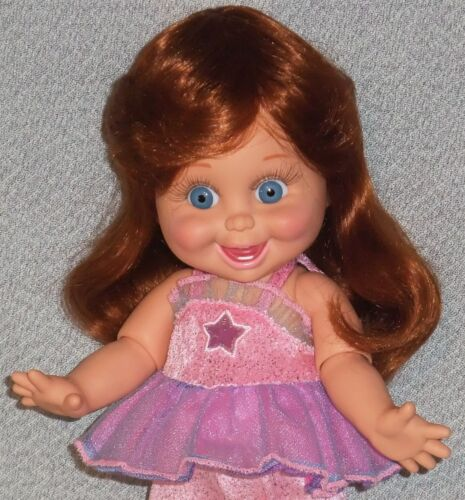 fits Baby Face Janelle ** DOLL WIG ** Size 12 GINGER Medium Length with Bangs