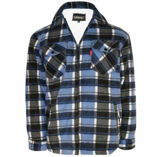 Fleece Lined Padded Lumberjack Thick Shirt Jacket Fur Sherpa Winter Warm M-5XL