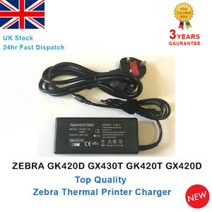 Thermal-Printer-Zebra-GK420D-GX430T-GK420T-Power-Supply-Charger-Adapter-UK-Stock