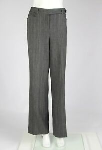 Tapemeasure Dress Pants Womens Gray Metallic Wide Leg Flat Front Size 10