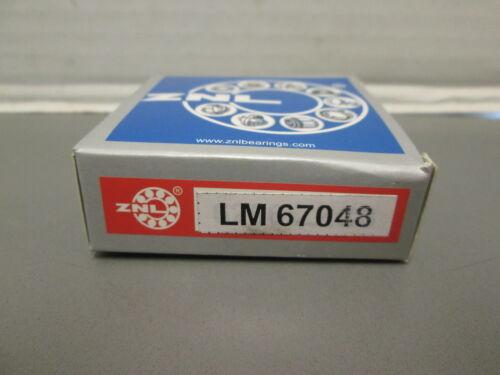 LM67048 ZNL TAPERED ROLLER BEARING