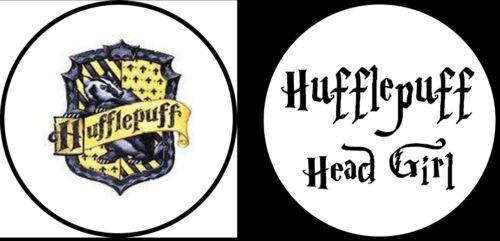 Harry POTTER TASSOROSSO Head Girl novità UMORISMO DIVERTENTE 25mm pulsante Pin Badge x2