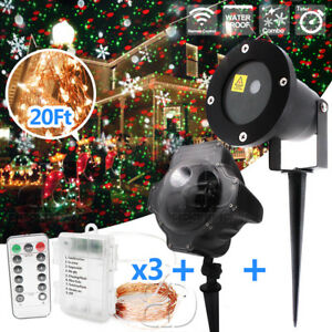 2pcs Christmas Laser Lights Motion