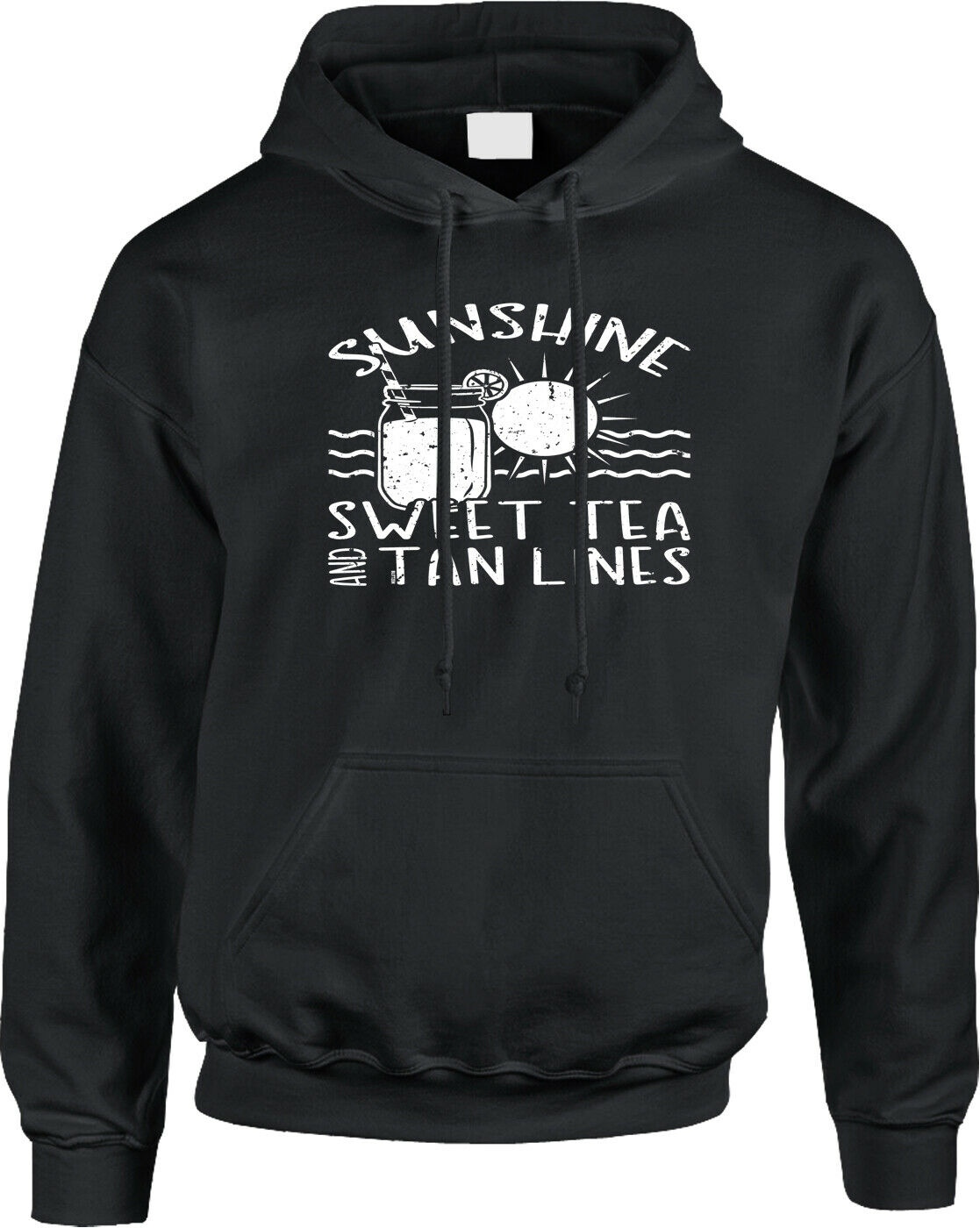 Sunshine Sweet Tea Tan Lines Southern Country Beach Party Tailgate Mens Hoodie