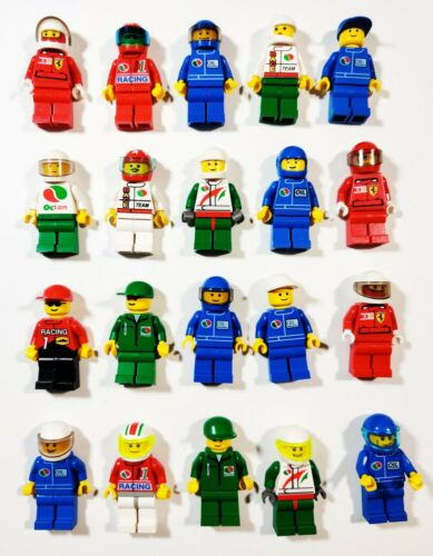 Lego Racer Car Driver Octan People Racing Random Town City Minifigures Lot of 5