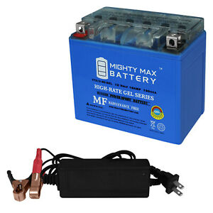 Mighty Max YTX9-BS Battery Replaces Suzuki 33610-33E20 12V 2Amp Charger