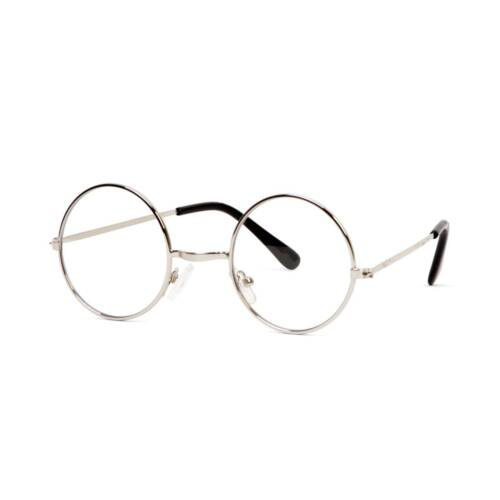 Gravity nuances circulaire Silver Frame Clear Lens glasses
