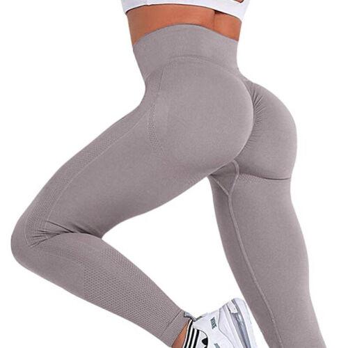 Women Anti Cellulite Scrunch Butt Lift Push Up Trousers Gym Clothing Workout UK