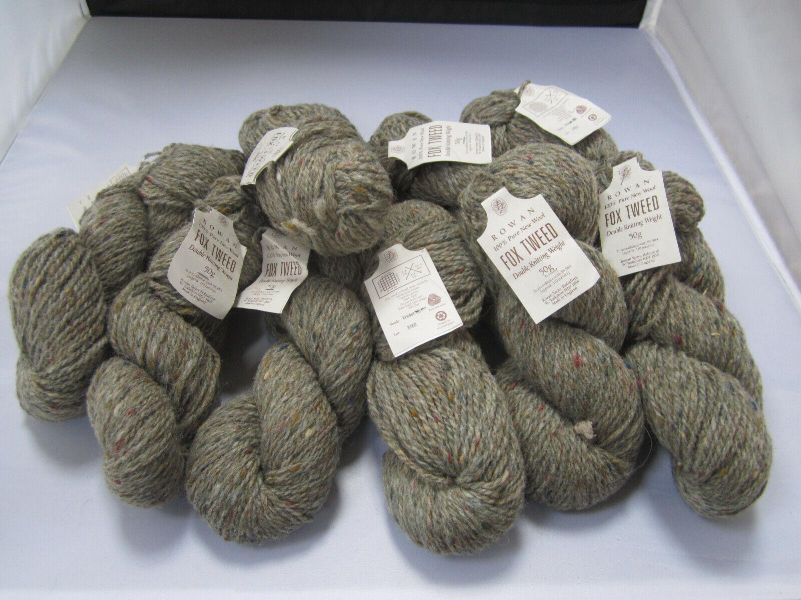 RowanDK Fox Tweed yarn 9 skeins