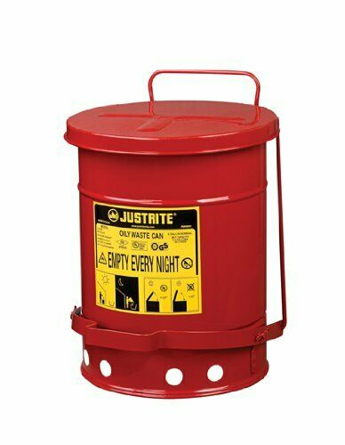 Safety Cans For Oily Waste Foot Pedal Trash Can Mechanics Rag Flammable Fun Gift