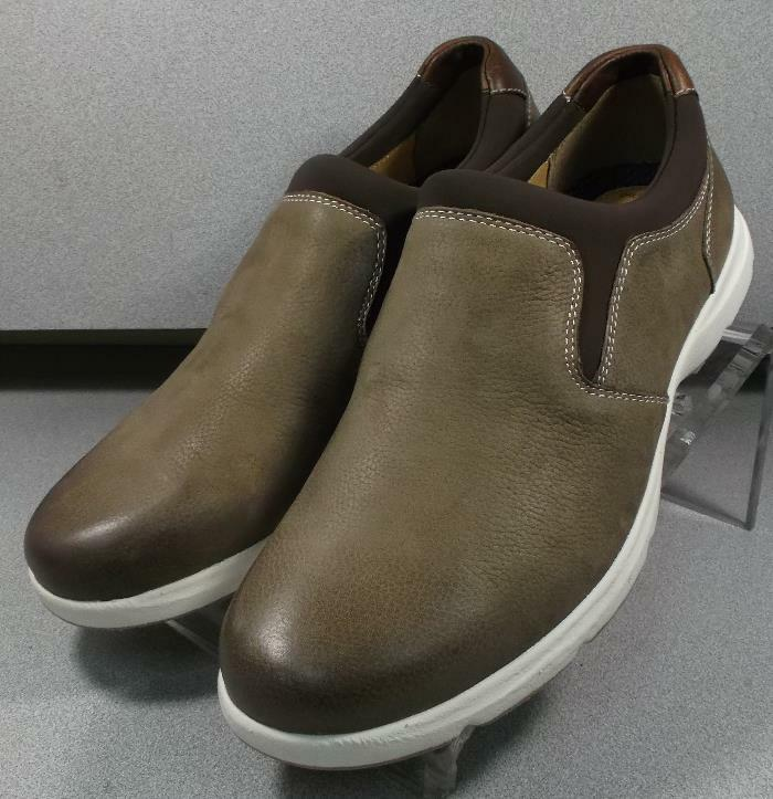 252290 MS38 Men's shoes Size 9 M Brown Leather Slip On Johnston & Murphy