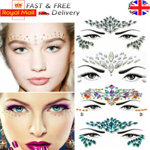 Glitter-Adhesive-Stickers-Tattoo-Face-Gems-Body-Gem-Rhinestone-Jewels-Festival