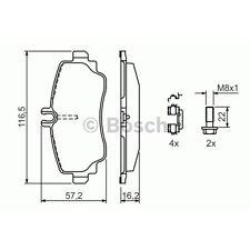 BOSCH Bremsbelagsatz Scheibenbremse MERCEDES-BENZ A-CLASS (W168)  MERCEDES-BENZ