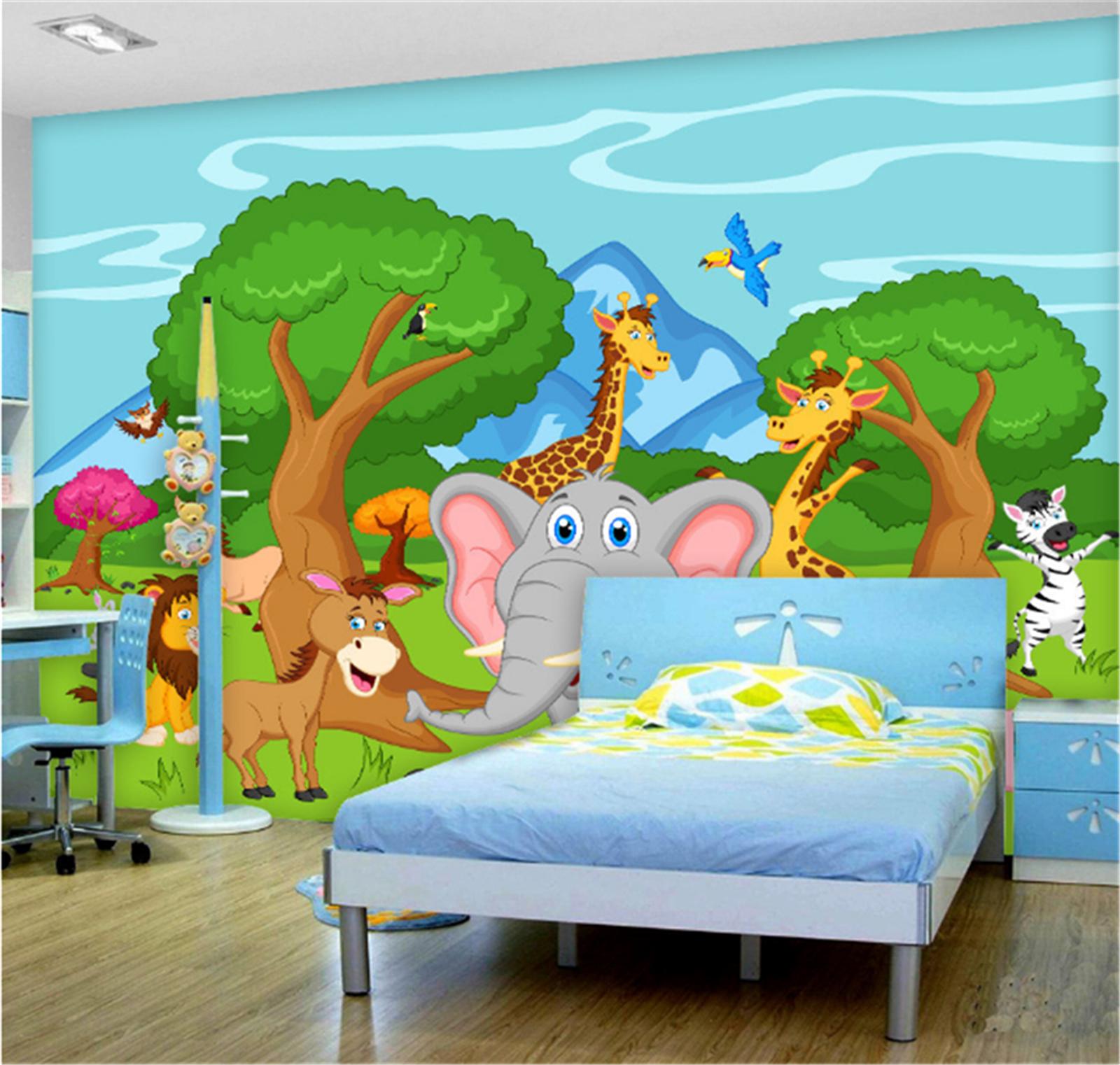 3D Grasland Tier Karikatur 7998 Tapete Wandgemälde Tapeten Bild Familie DE Lemon | Attraktives Aussehen  | Auktion  | Vorzüglich